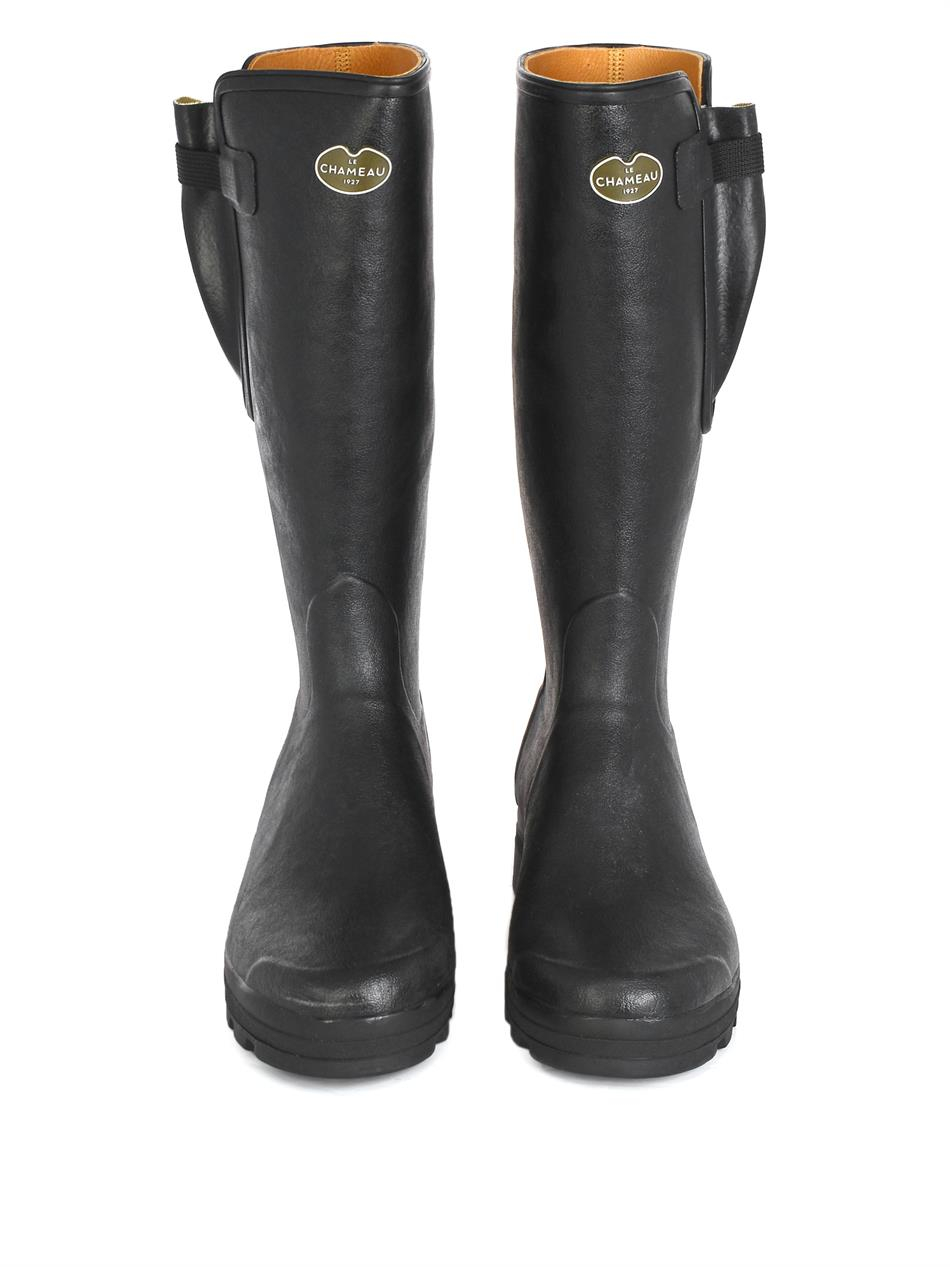 le chameau chasseur rubber boots in black for lyst