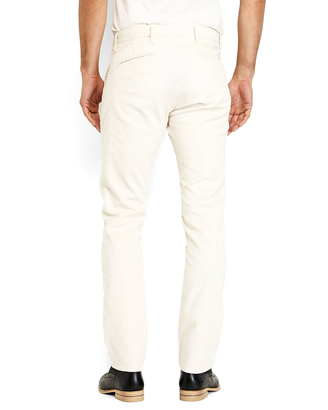 Dockers Cream Alpha Slim Fit Corduroy Pants in Natural for Men | Lyst