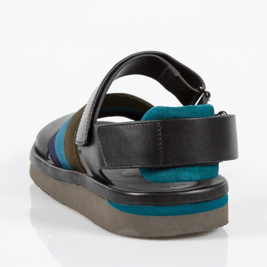 Sandals For Black Men Smith Leather Paul Men's Multicolor 'bowler' RL54j3qA