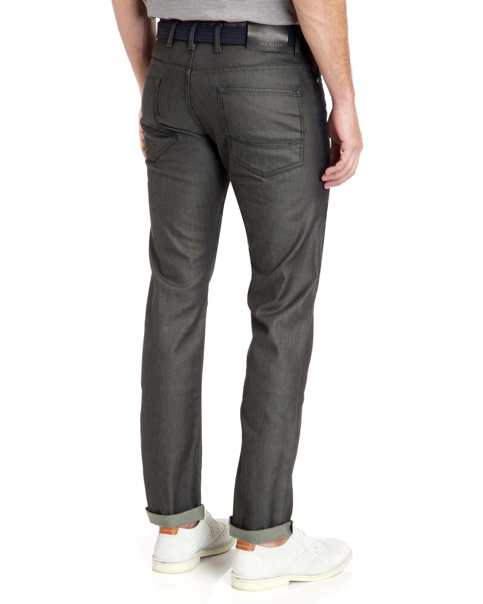 Ted Baker Scarva Slim Fit Grey Rinse Jean in Denim Rinse (Blue) for Men