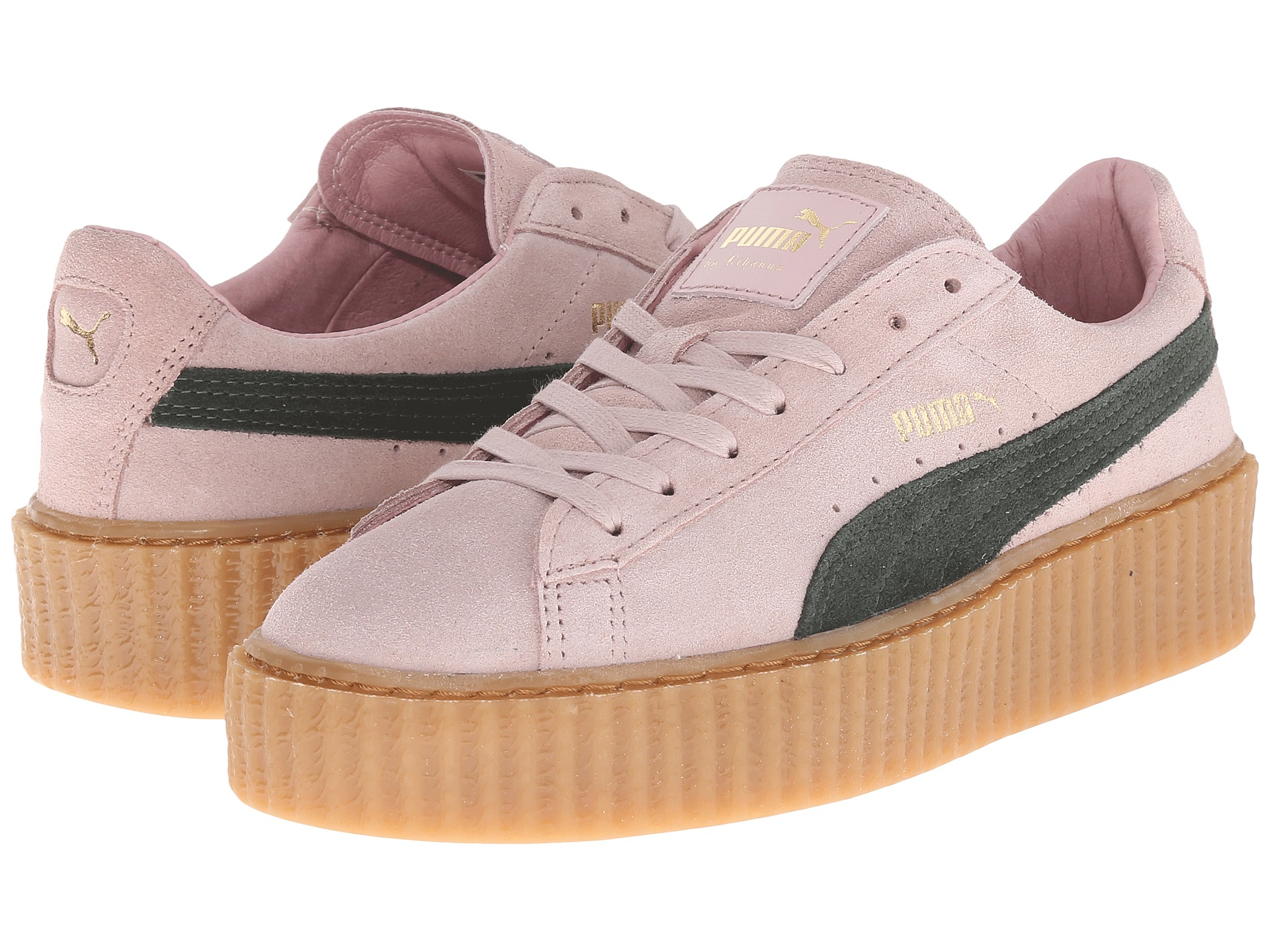 reputable site 0bc6d f6921 Women's Pink Rihanna X Suede Creepers
