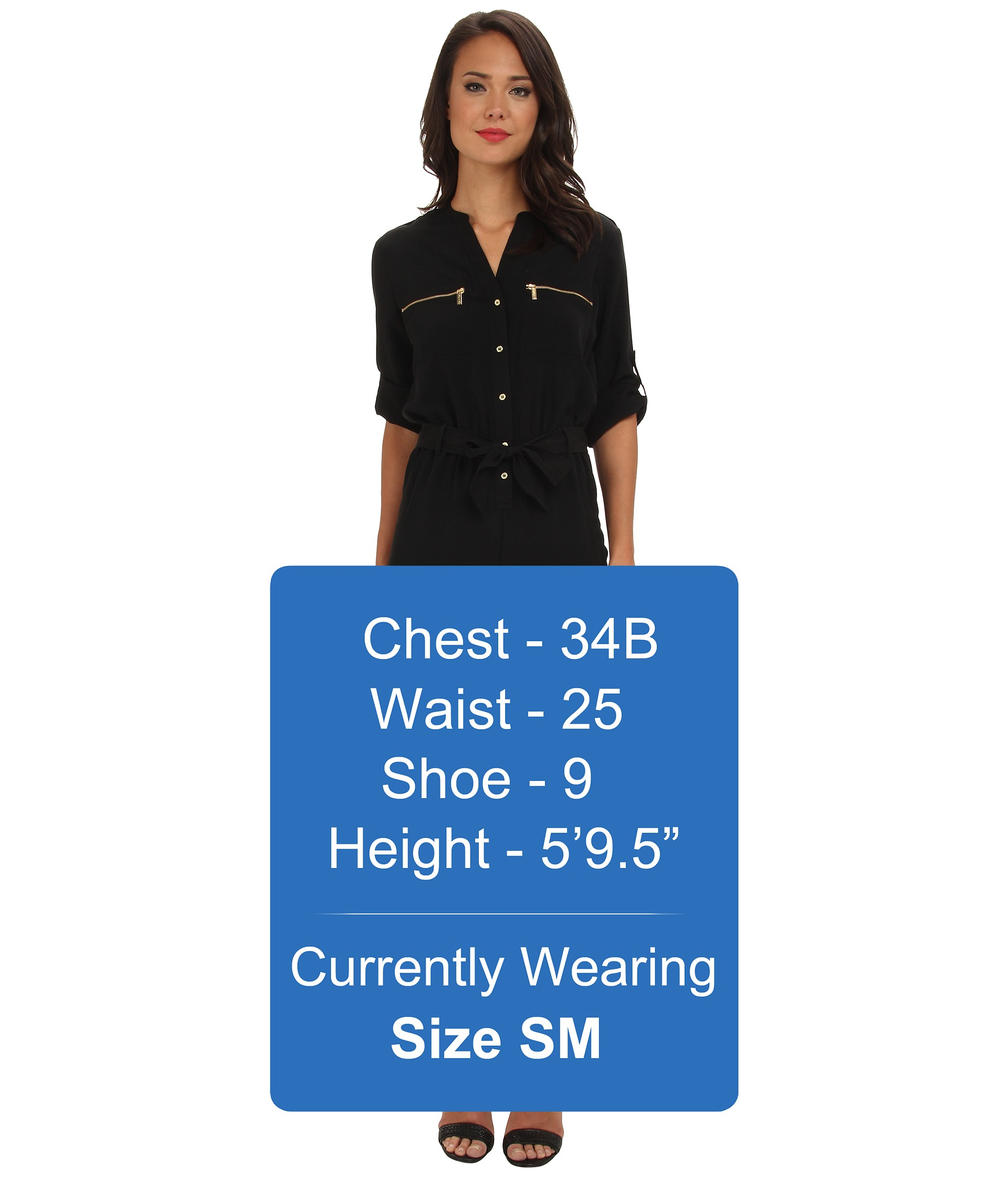 cee74a91cbe Lyst - Calvin Klein Roll Tab Jumpsuit in Black