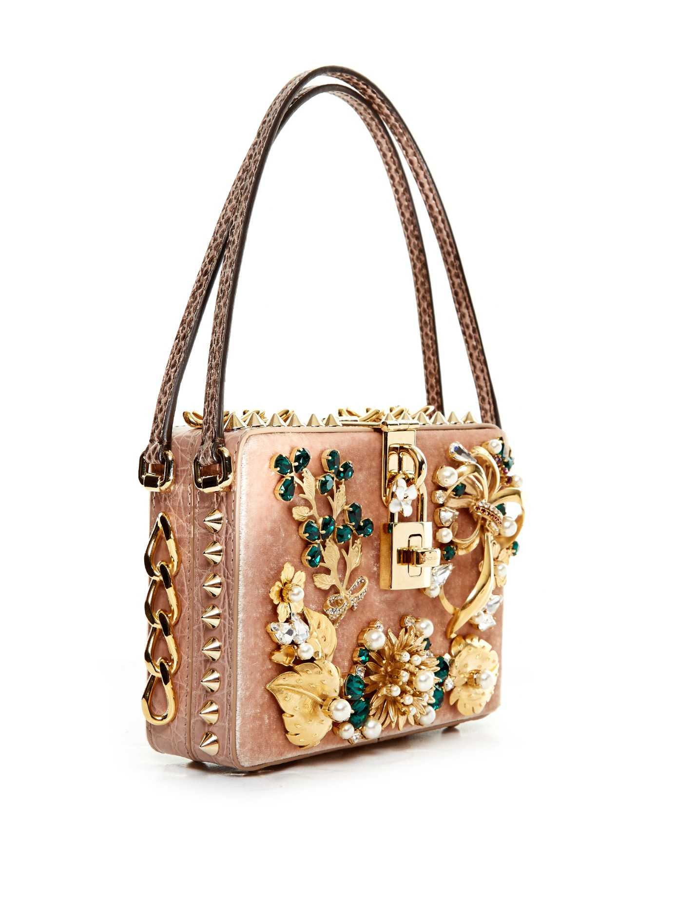Dolce   Gabbana Dolce Mama Embellished Box Bag - Lyst 5ce32463963f1