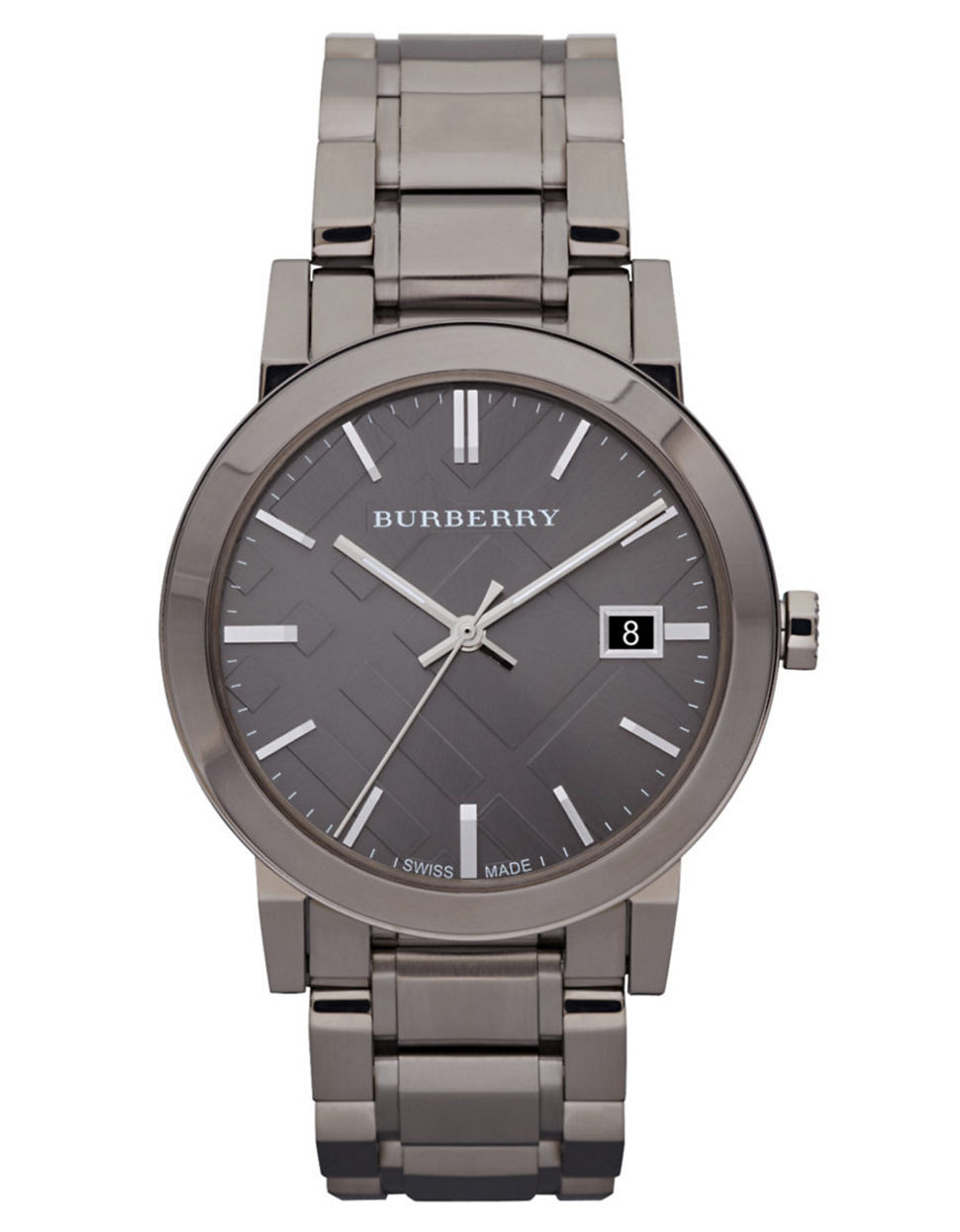 Burberry Mens Gunmetal Round Dial Watch in Metallic for ...