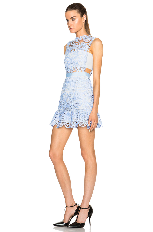 Lace Peplum Mini Dress