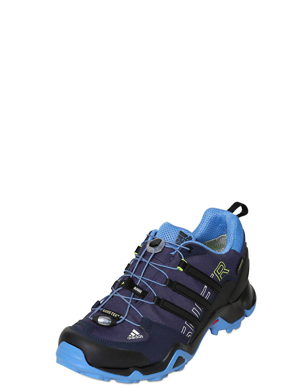 lyst adidas terrex swift r gore tex outdoor sneakers in blue. Black Bedroom Furniture Sets. Home Design Ideas