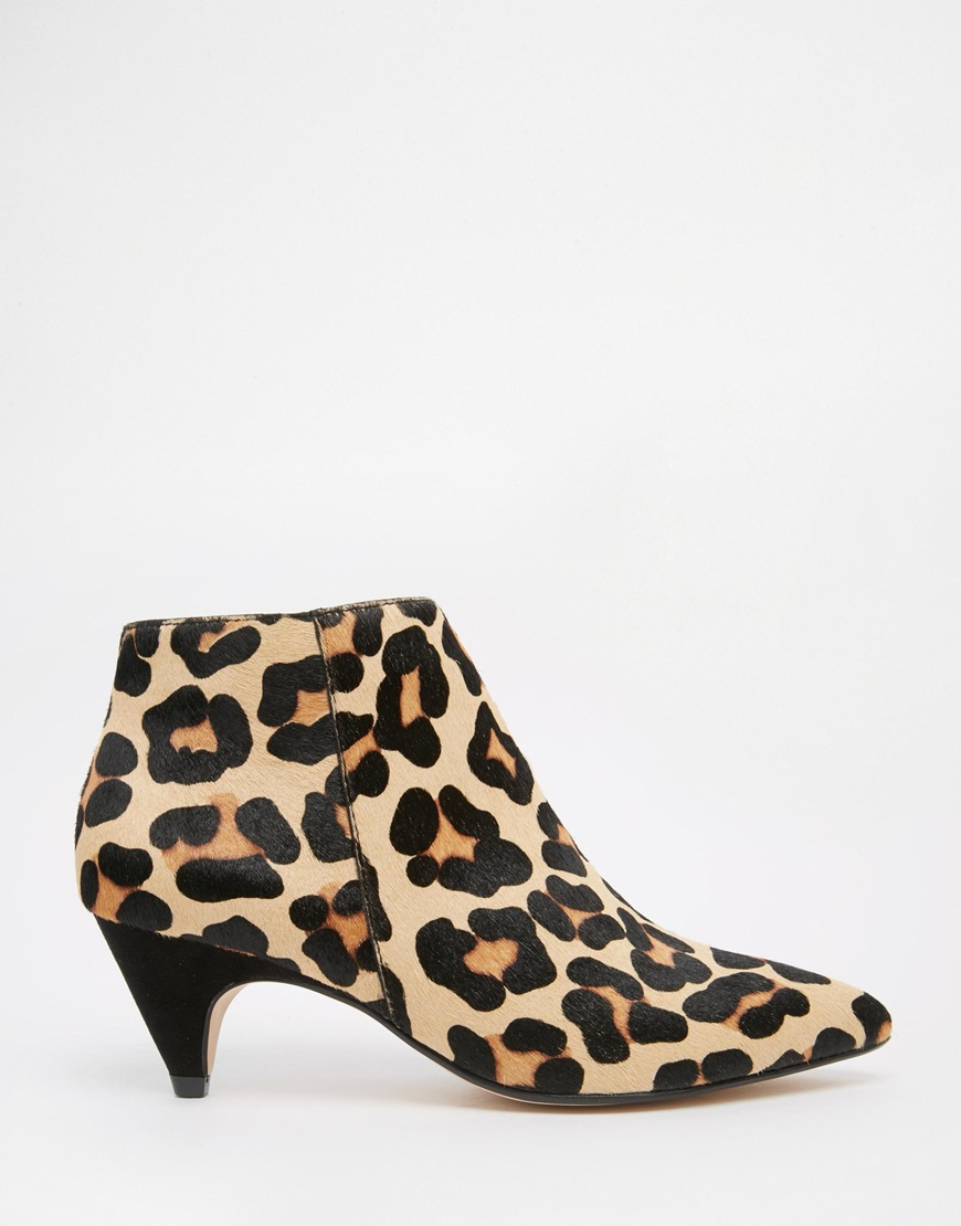 08d75867d8f7 Dune Ophelia Animal Print Pony Effect Kitten Heel Ankle Boots in ...