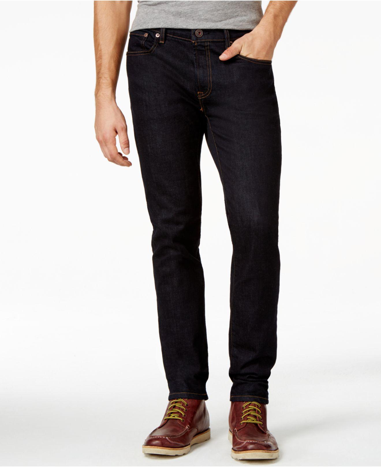 tommy hilfiger slim fit black rinse jeans in blue for men lyst. Black Bedroom Furniture Sets. Home Design Ideas