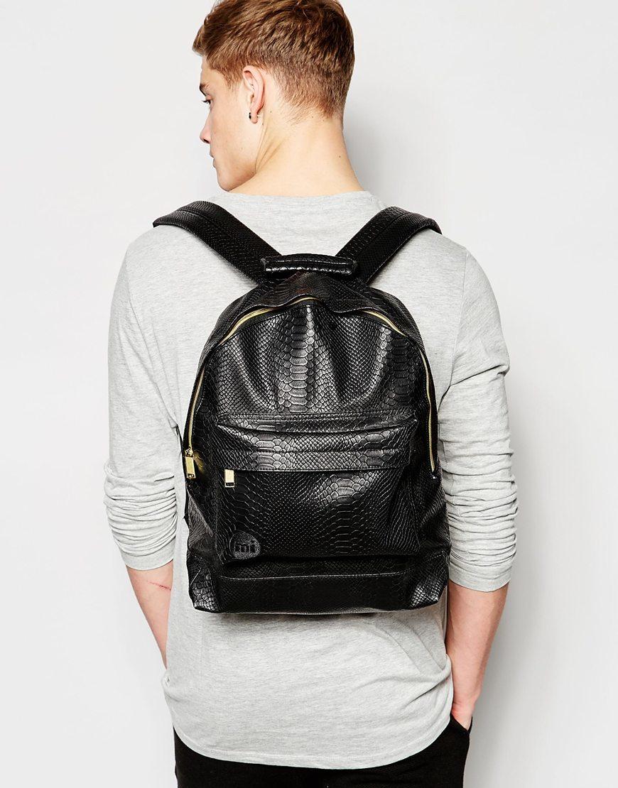 Mi Pac Python Backpack In Black For Men