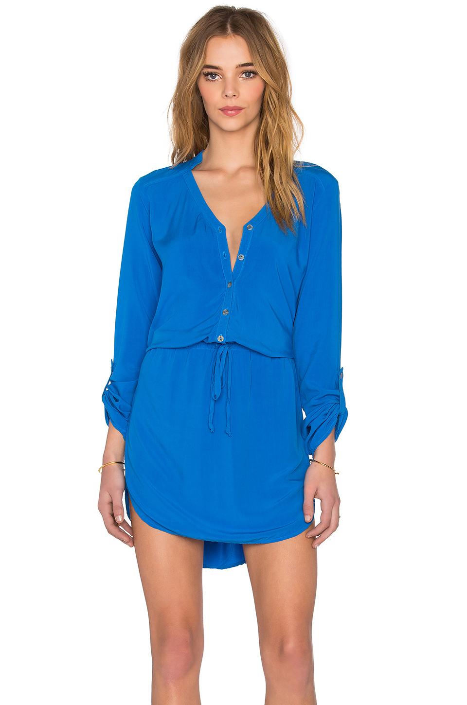 Michael stars Mini Shirt Dress in Blue | Lyst