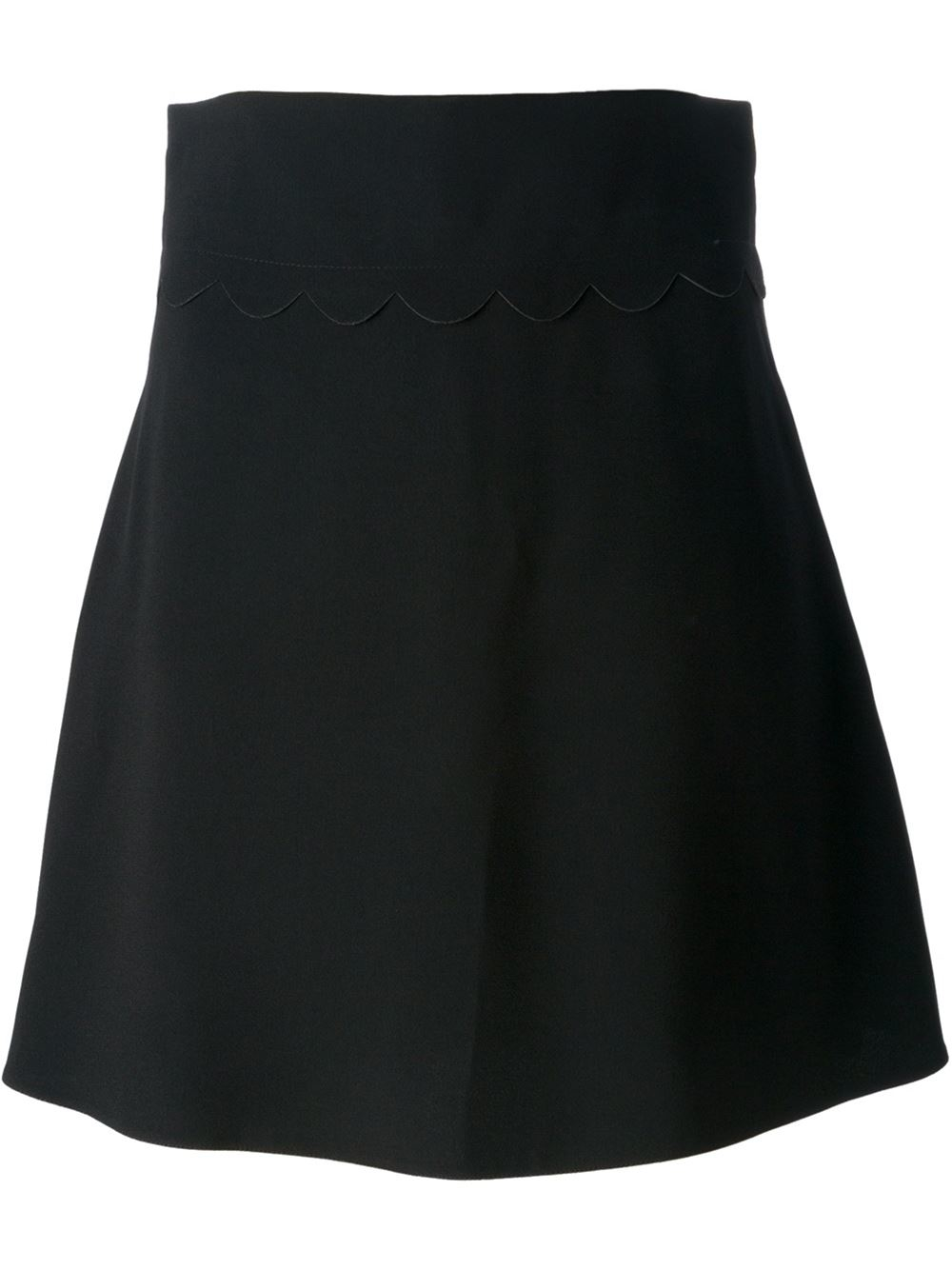 valentino high waisted skirt in black lyst