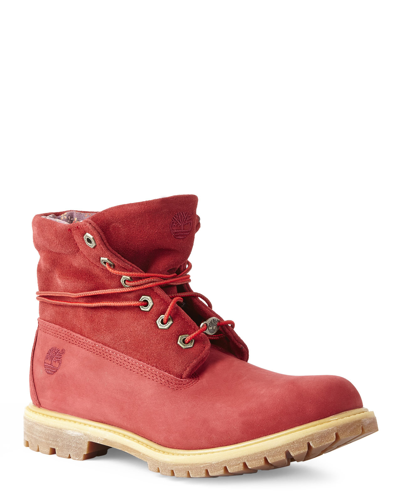 Lyst - Timberland Red Authentics Roll-Down Boots in Red