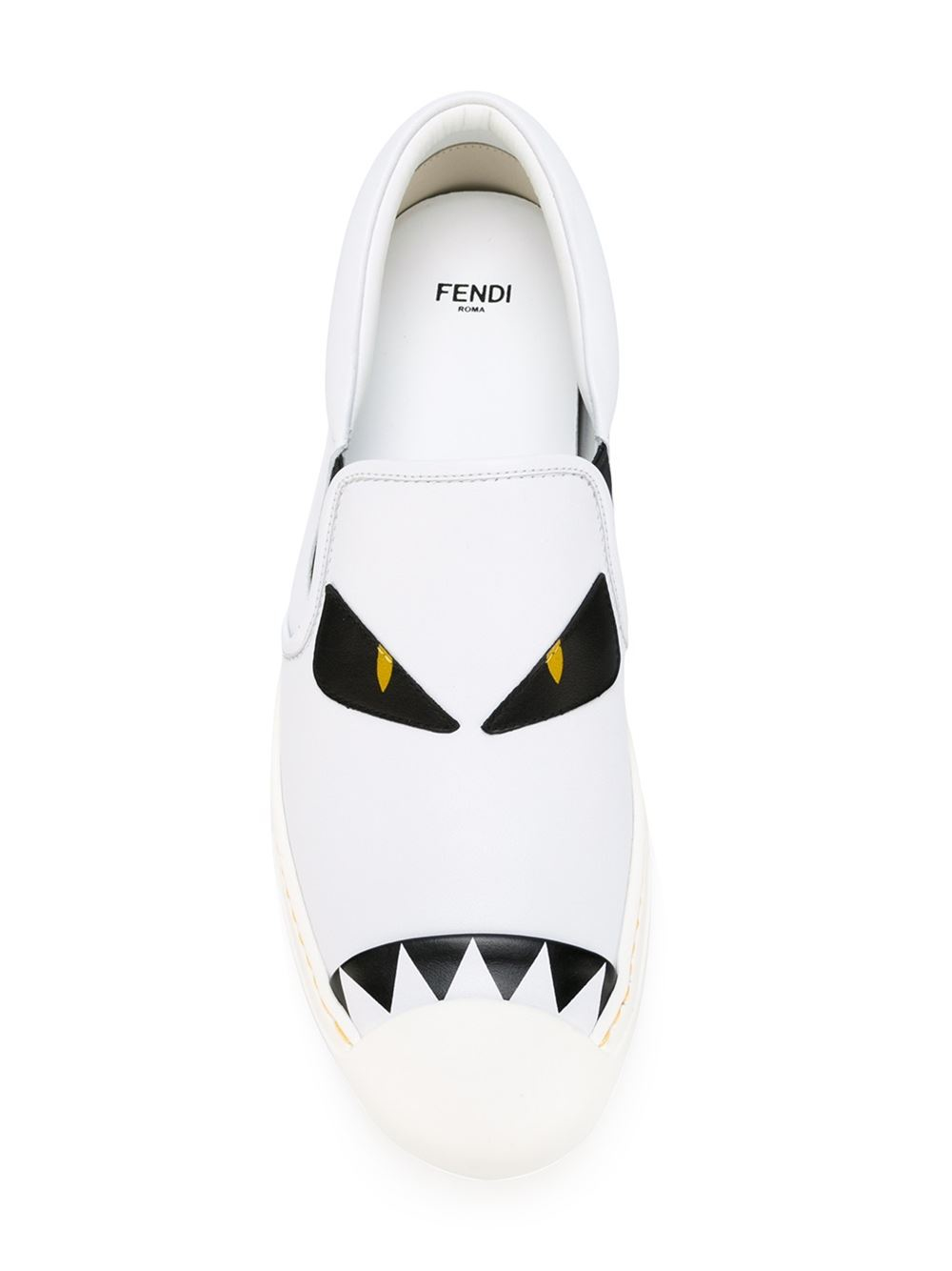 Lyst - Fendi Bag Bugs Sneakers in White 0bf7893116ac3