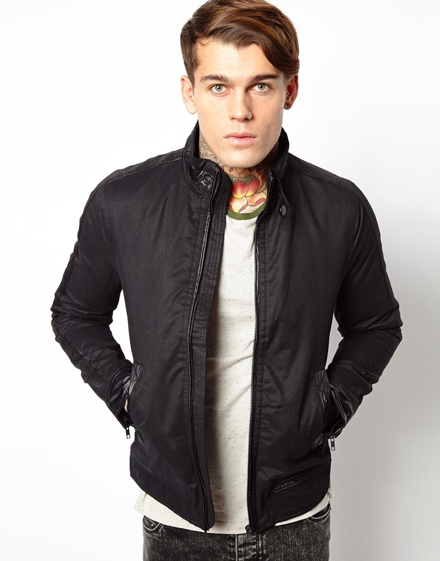 Diesel Jacket J-thalia Lightweight Biker in Black for Men | Lyst