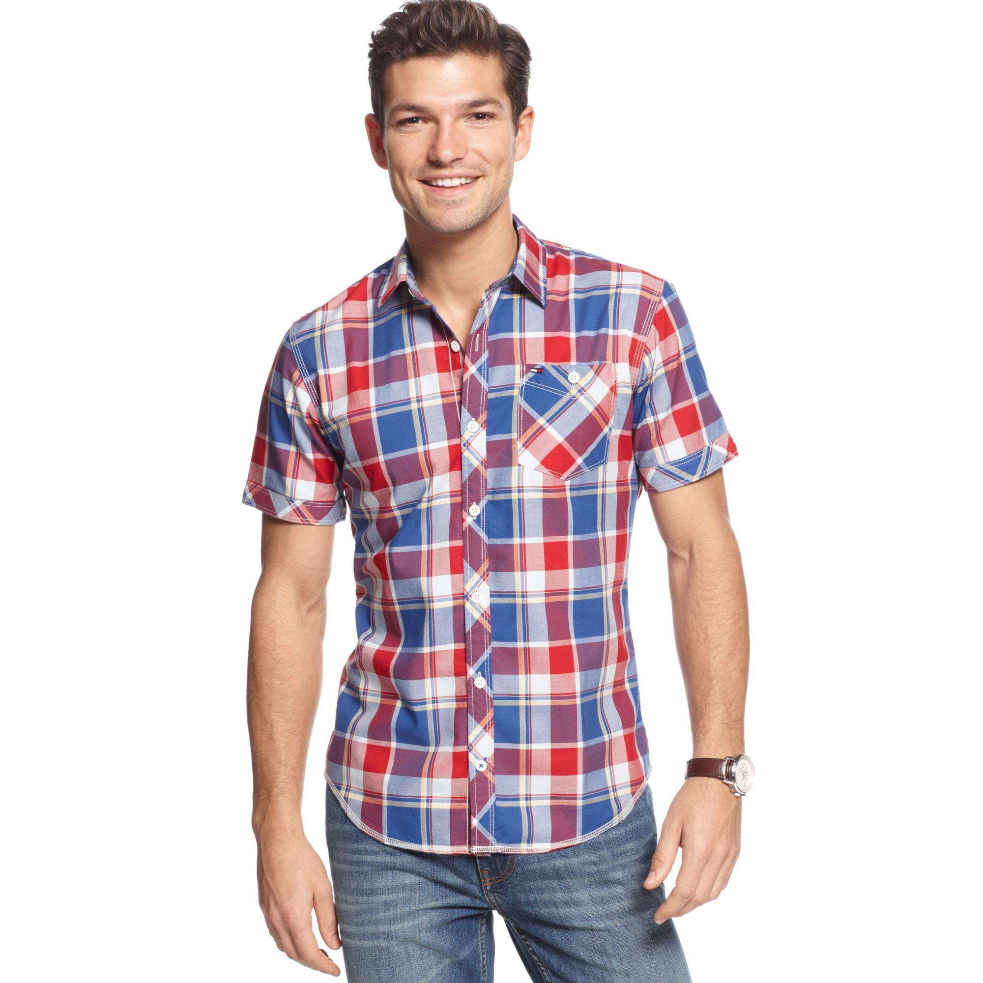 0f46d0492851 Lyst - Tommy Hilfiger Spark Check Shirt Hilfiger Denim Collection in ...