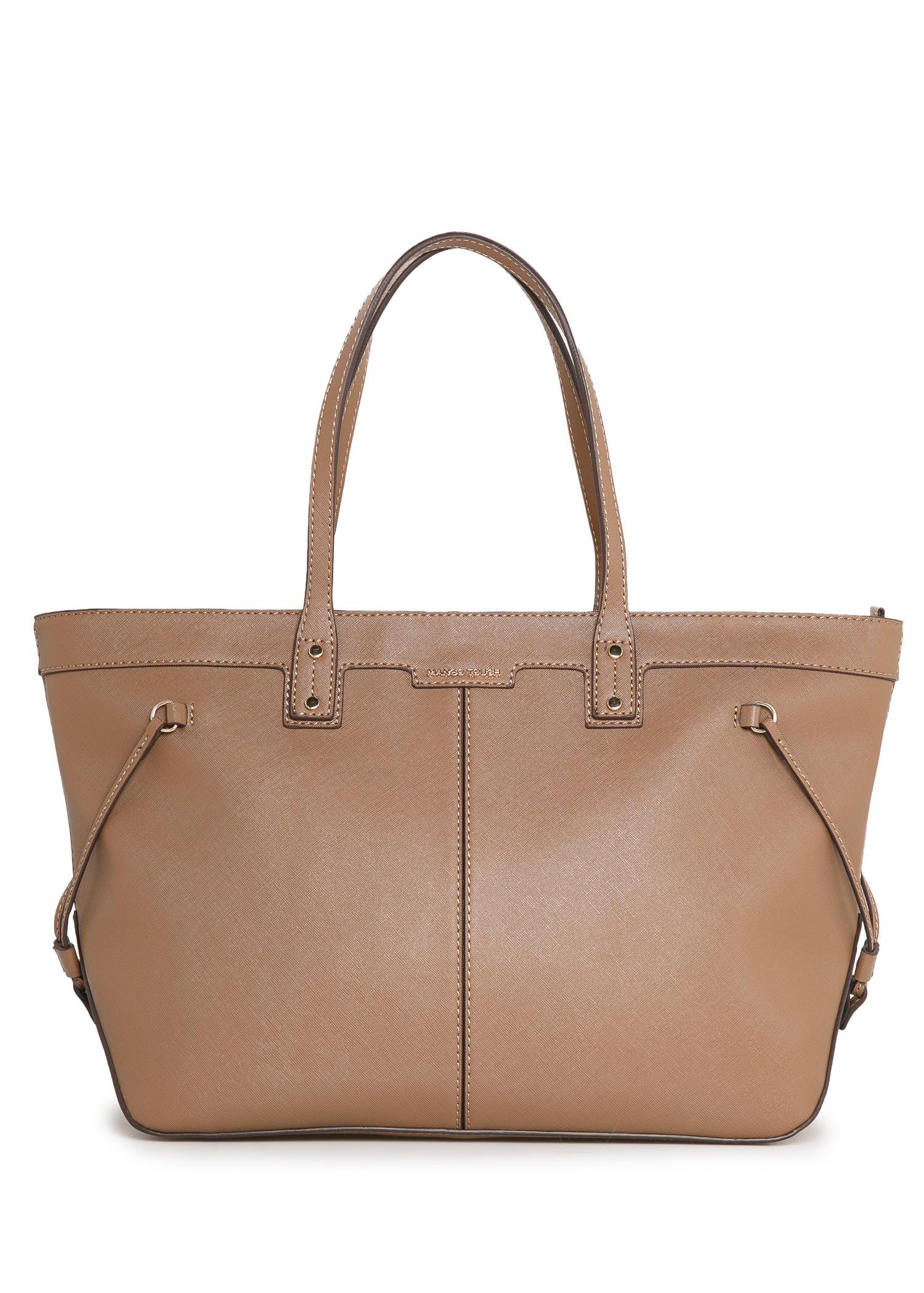 Amazing Mango Cosmetic Bag Shopper Bag In Brown  Lyst
