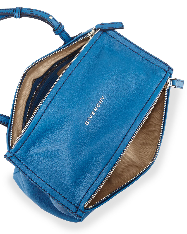 Lyst Givenchy Pandora Mini Goatskin Crossbody Bag In Blue