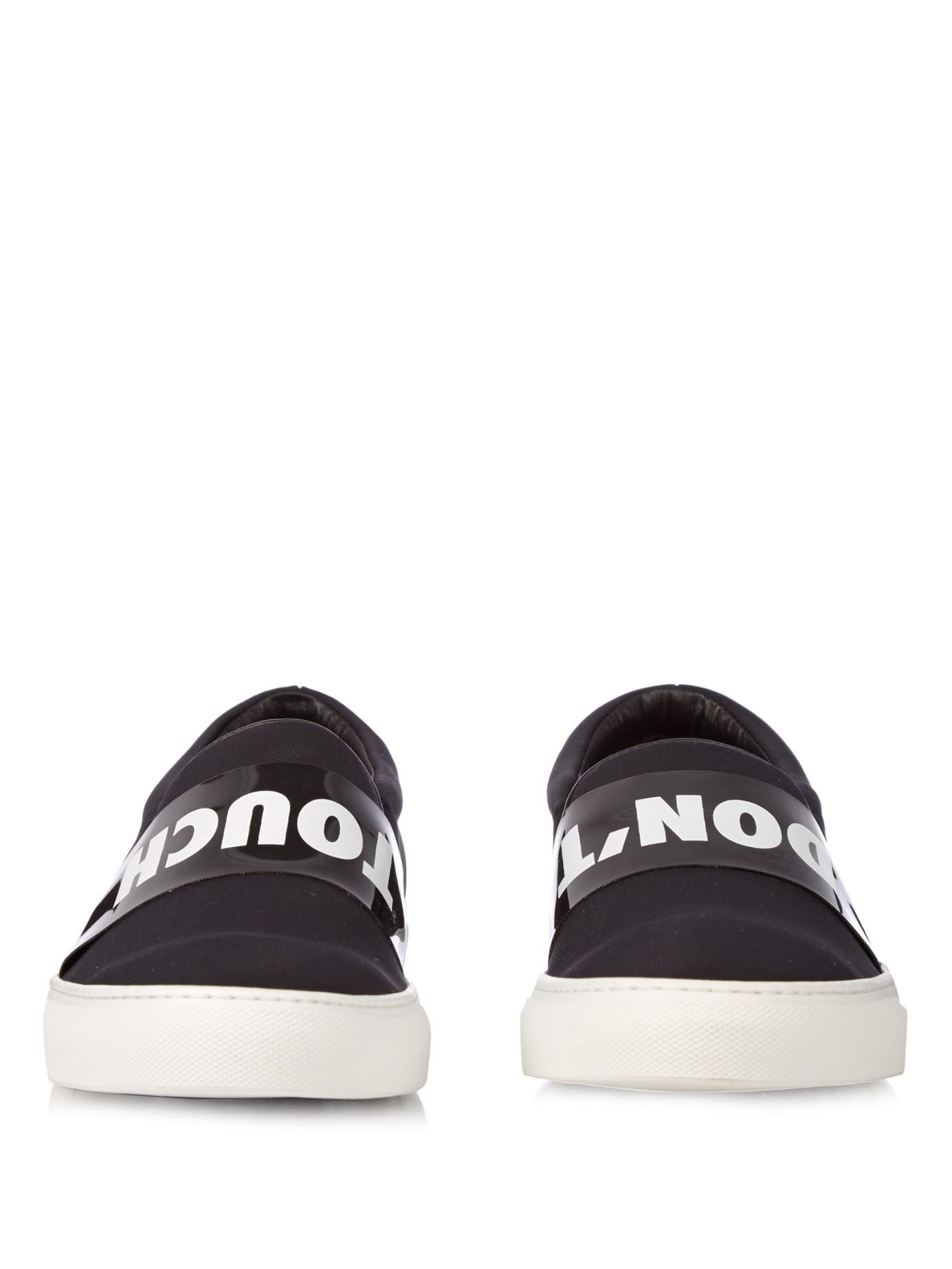Joshua Sanders Don't Touch Neoprene Slip-On Sneakers in White for Men