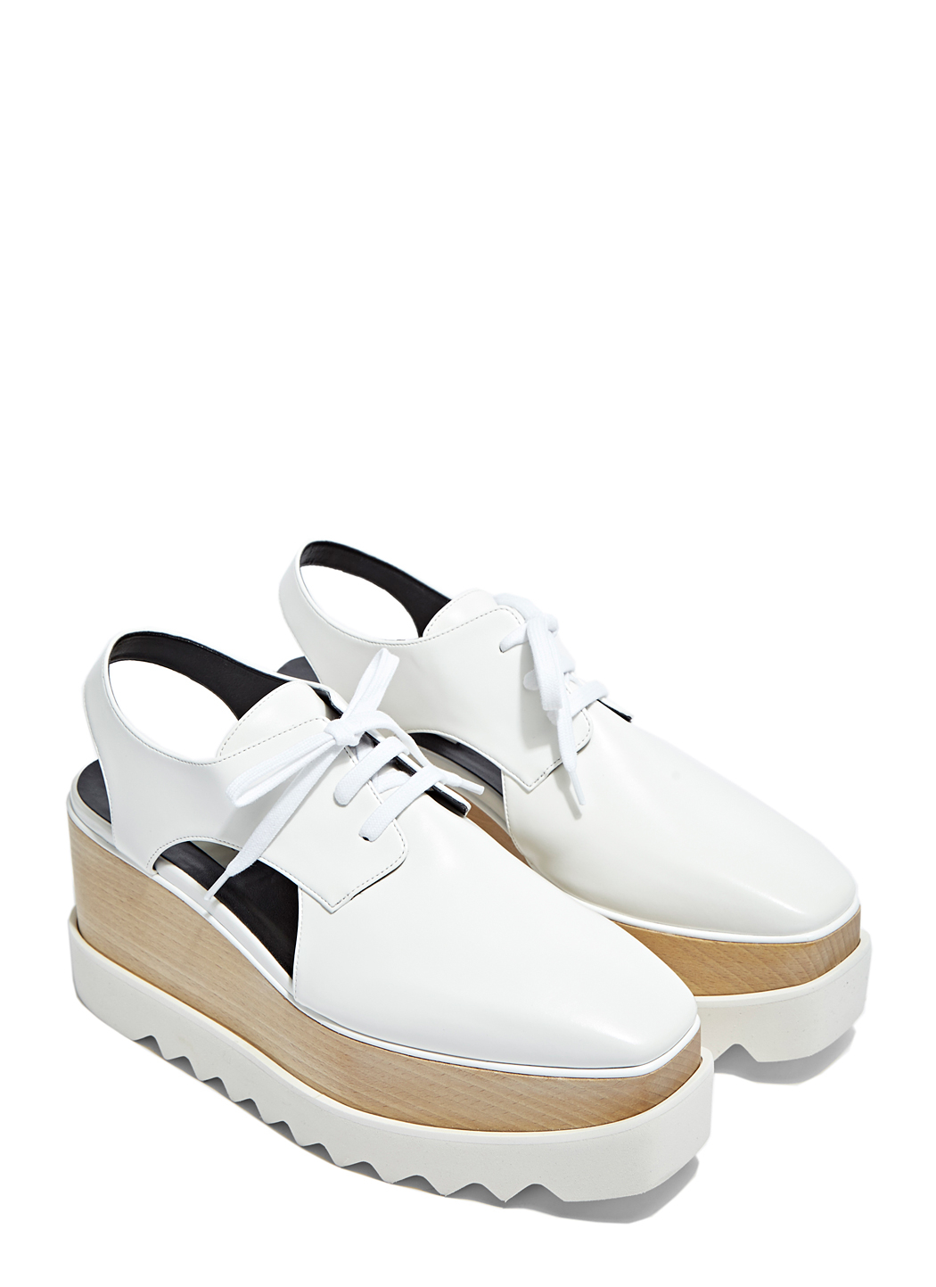 footlocker pictures for sale Stella McCartney 'Elyse' cut-out lace-up shoes clearance authentic buy cheap for cheap clearance big discount XT9SW