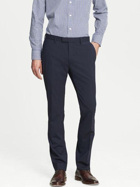 Banana Republic Modern Slim Fit Navy Wool Dress Pant Dark