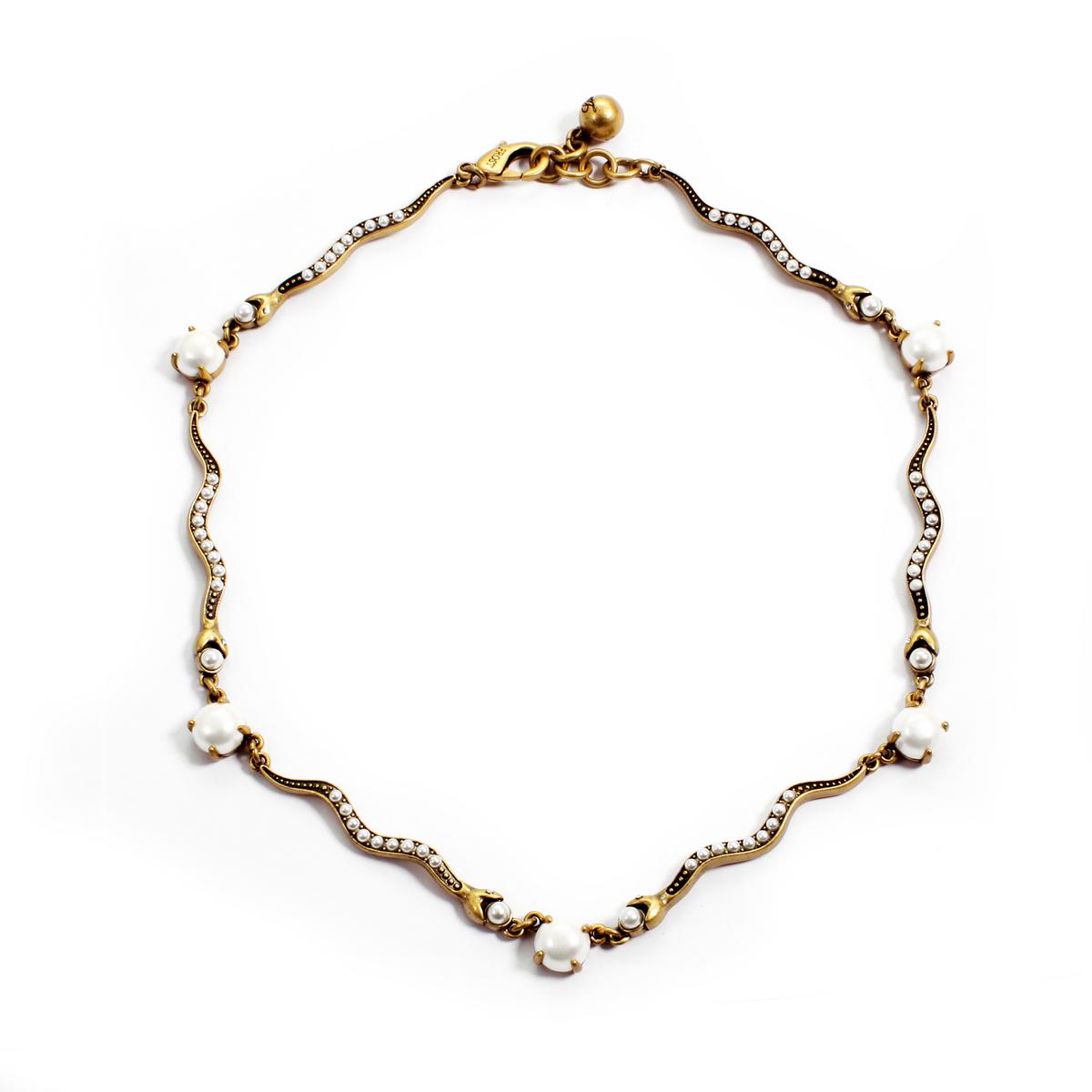 Lulu frost Serpentine Necklace in Metallic | Lyst  Lulu frost Serp...