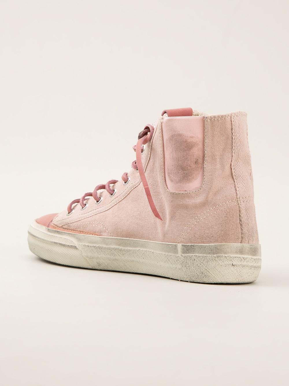 Golden Goose Deluxe Brand Vstar Hitop Sneakers In Pink Lyst
