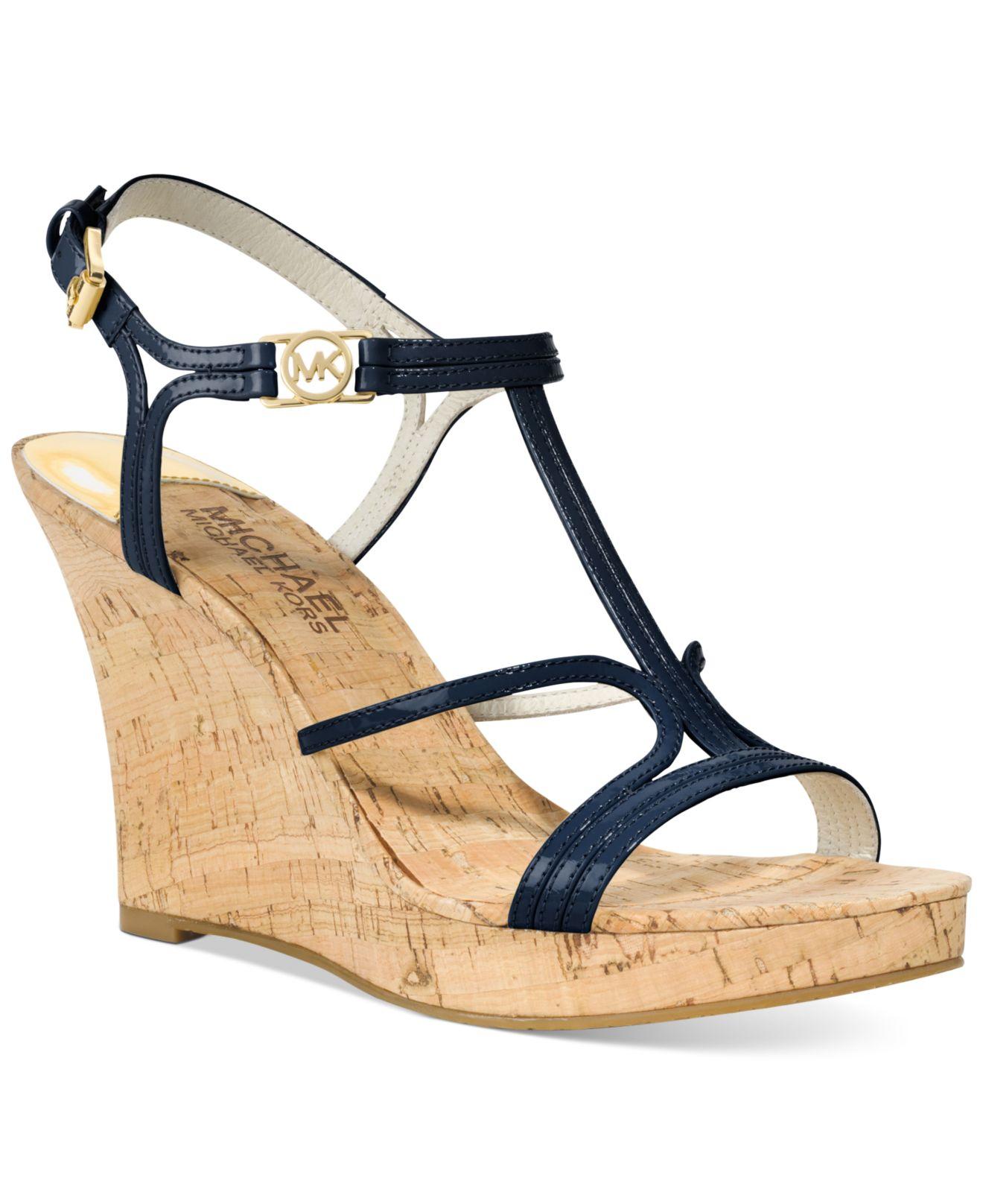 Michael Cicely Platform Wedge Sandals