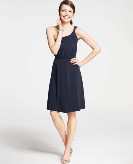 Ann taylor petite jersey one shoulder bridesmaid dress in for Anne taylor wedding dress