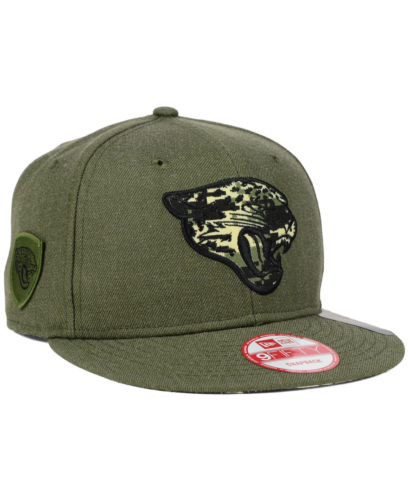 ktz jacksonville jaguars camo 9fifty snapback cap in green. Black Bedroom Furniture Sets. Home Design Ideas