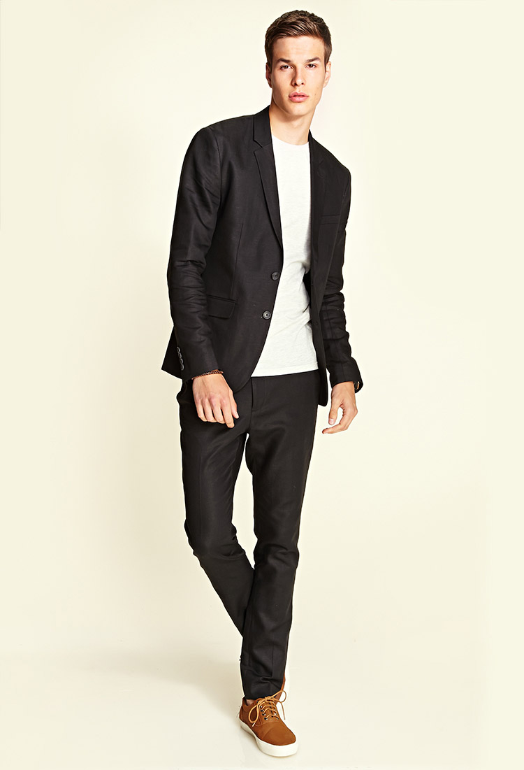 Forever 21 Linen-blend Pants in Black for Men | Lyst