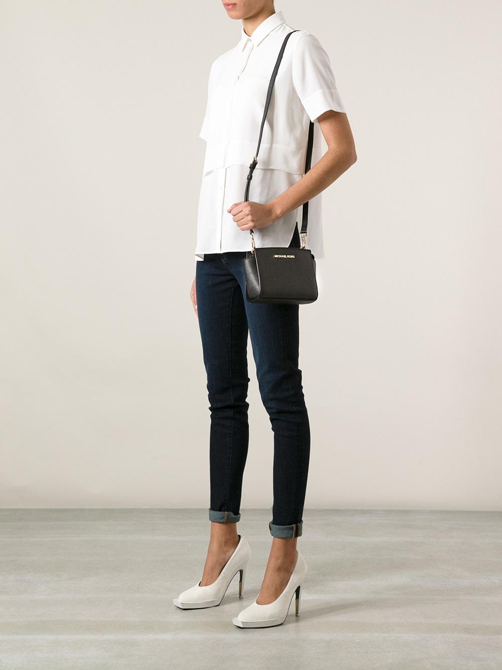 226968173416 MICHAEL Michael Kors Mini Selma Crossbody Bag in Black - Lyst