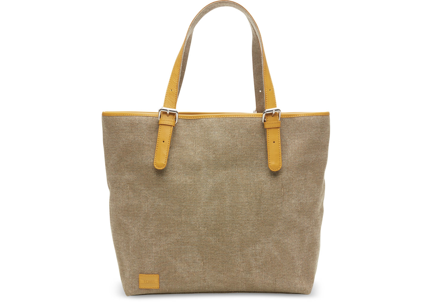 toms khaki woven texture mix vacationer tote in green lyst