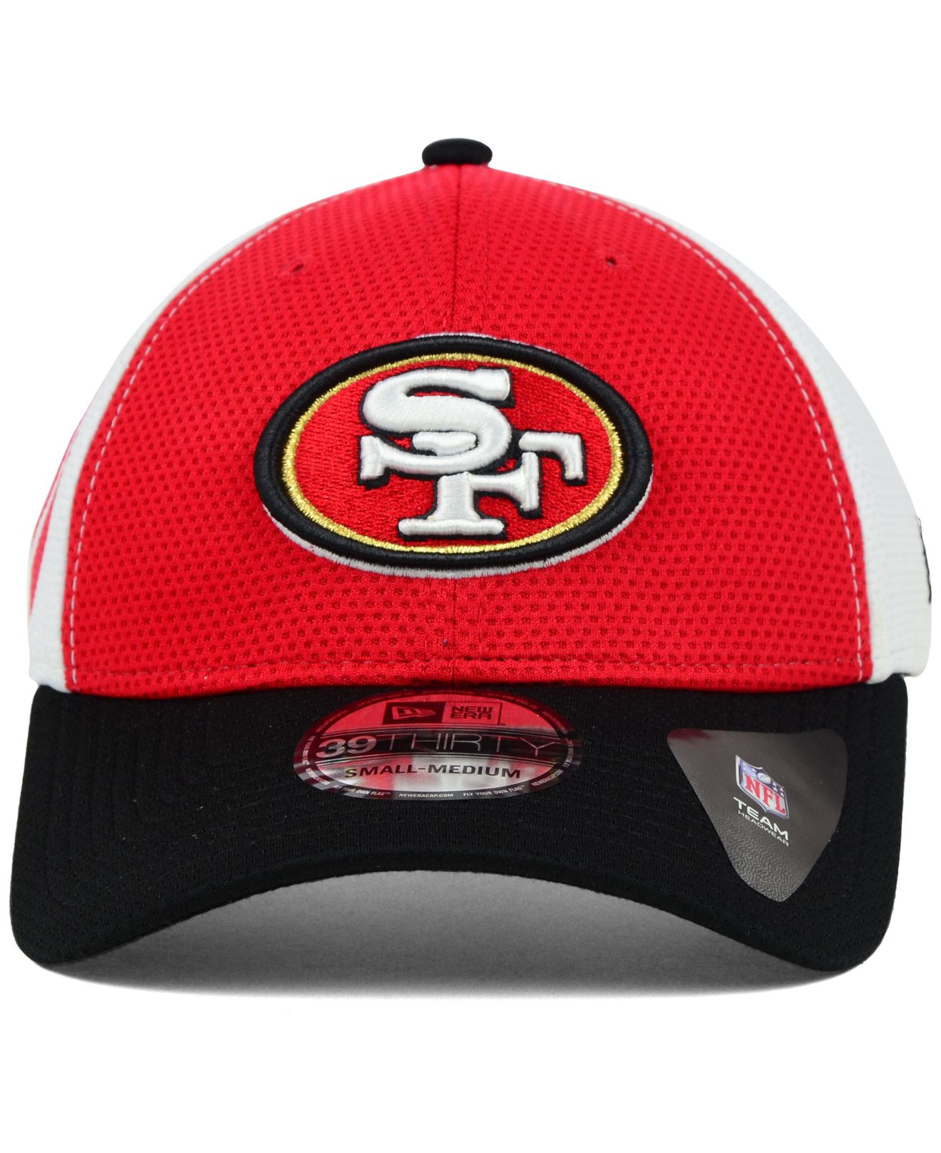 lyst ktz san francisco 49ers logo stretch 39thirty cap in red for men