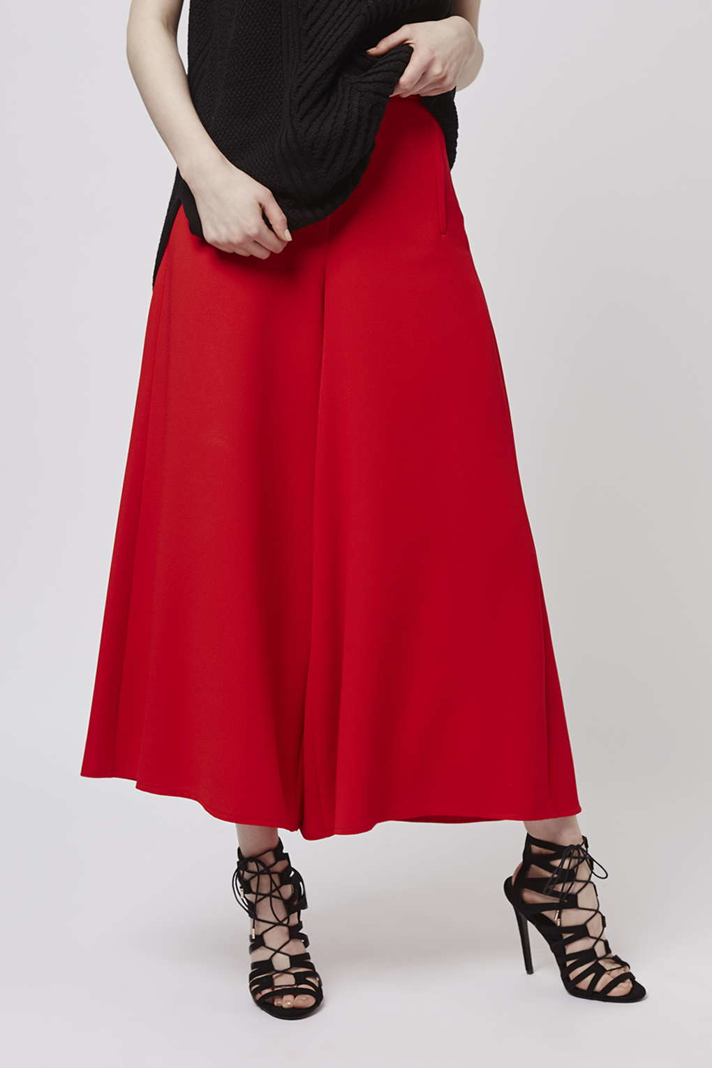 b0ccf15e58885 TOPSHOP Wide Leg Palazzo Trousers in Red - Lyst