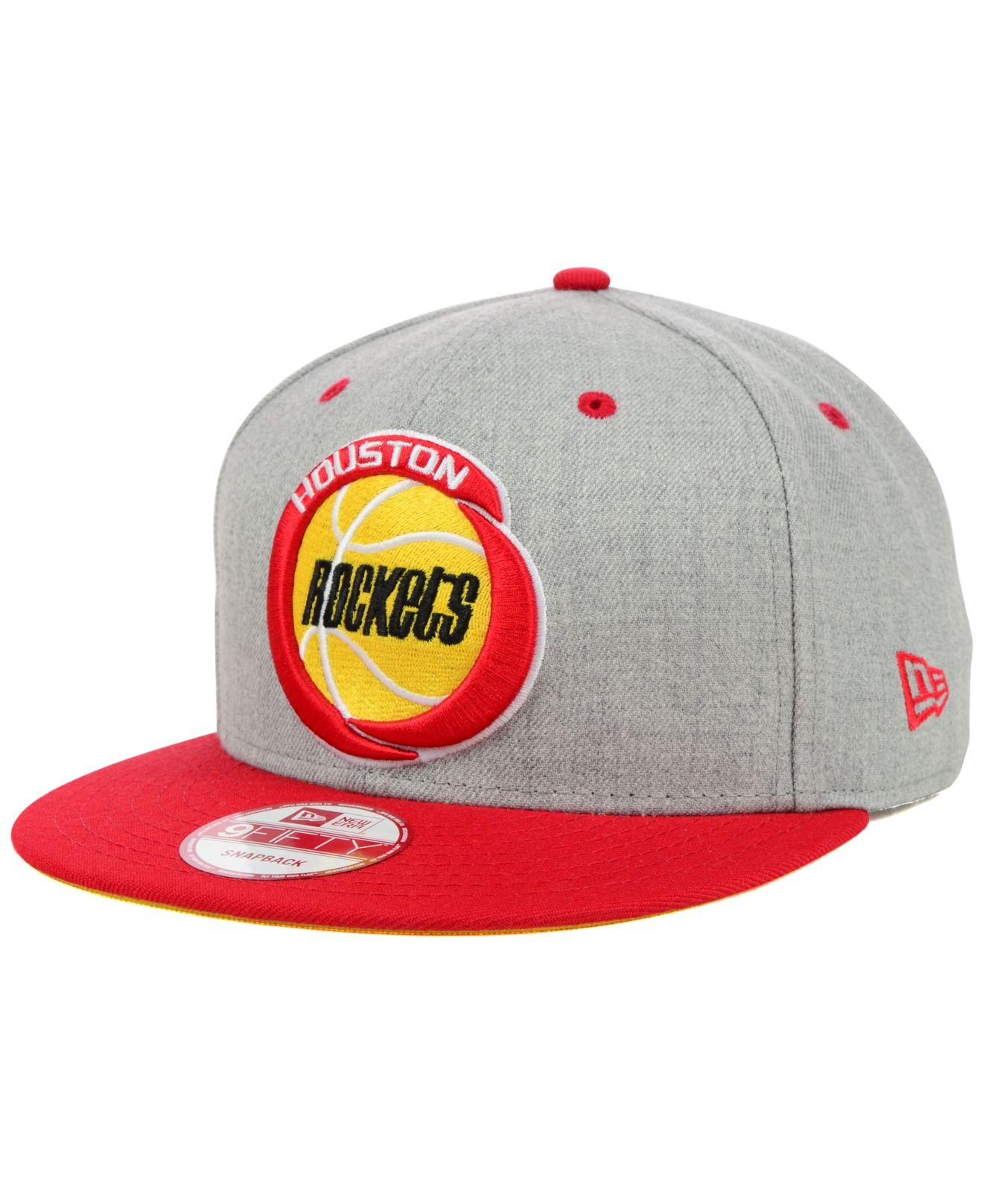 buy online cc73a 4af77 KTZ Houston Rockets Hardwood Classics Heather Gray 9Fifty Snapback ...