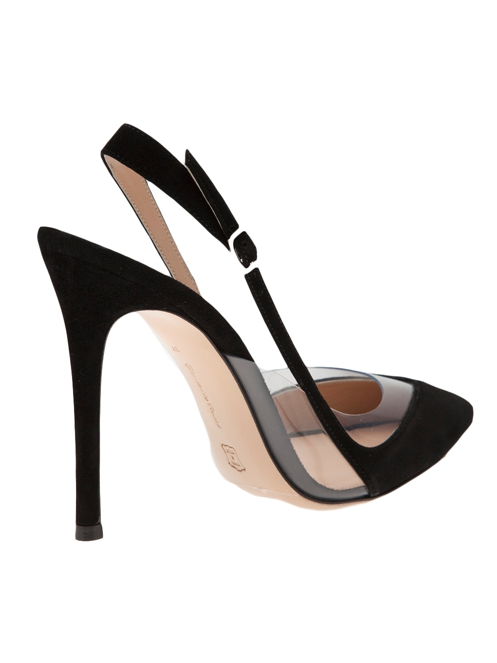 Gianvito Rossi Slingback Kitten Heel In Black Lyst