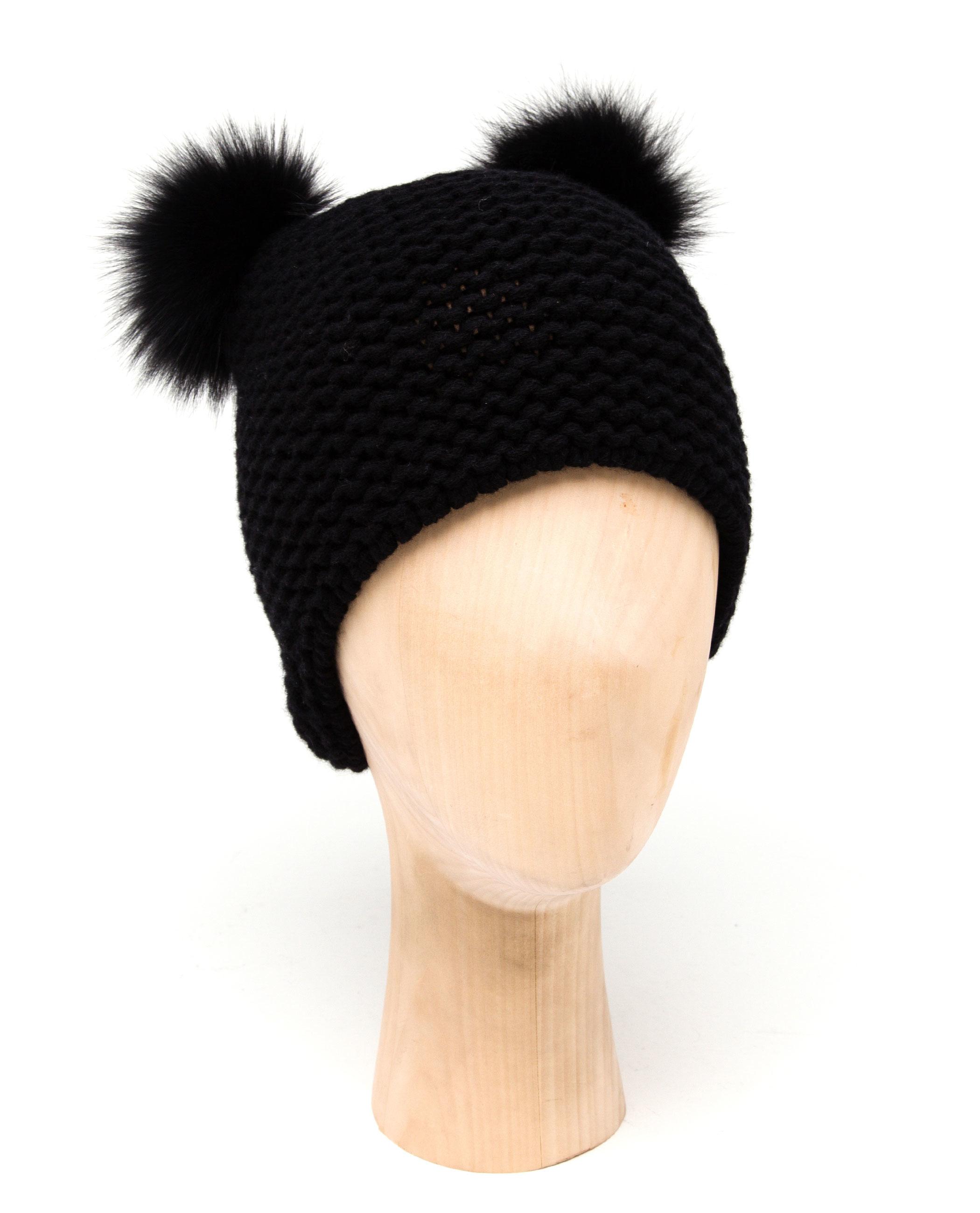 5a144df07df4c Cashmere Fur Pom Pom Hat Uk - Parchment N Lead