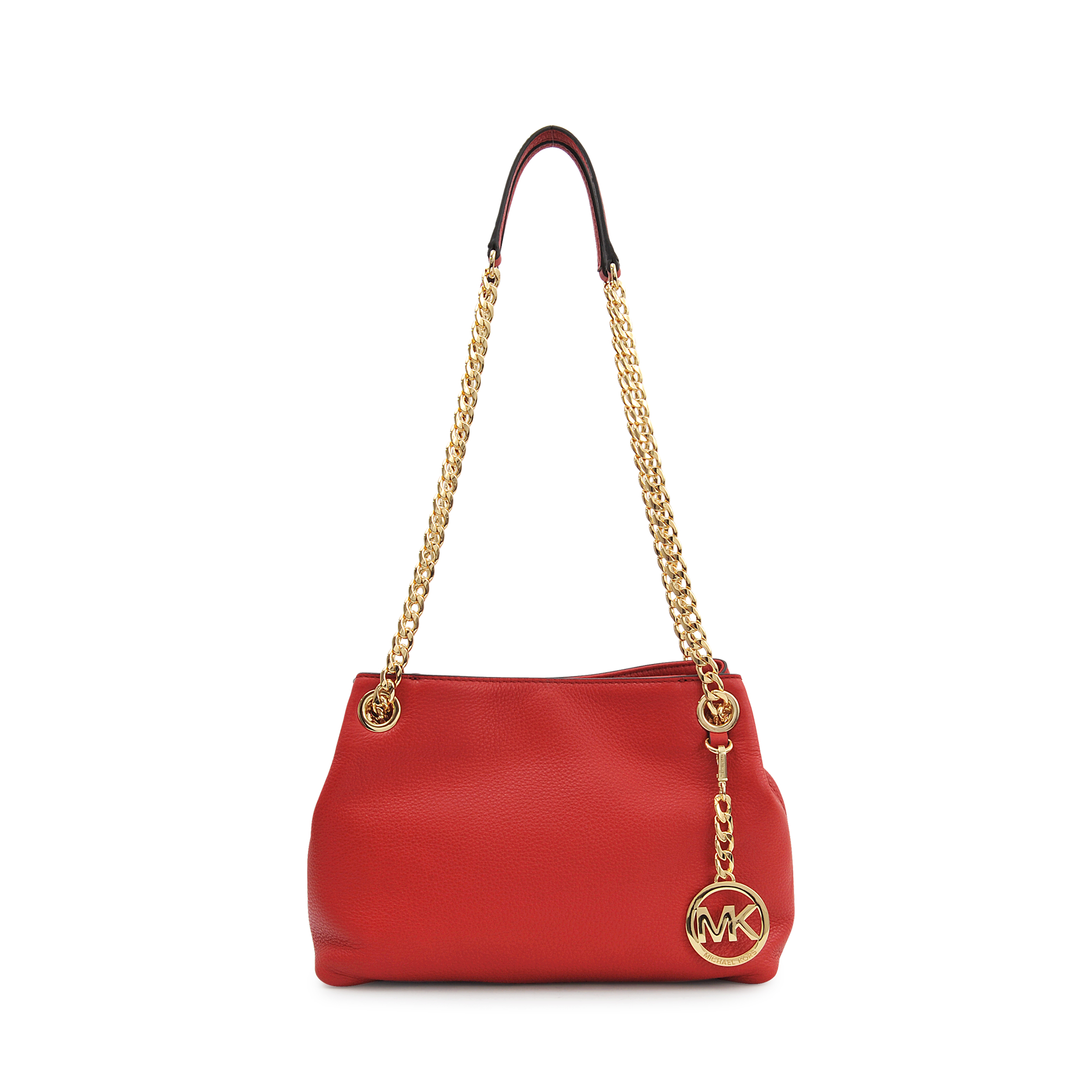 0b6ad63a77b Michael Kors Jet Set Chain Md Messenger Bag in Red - Lyst