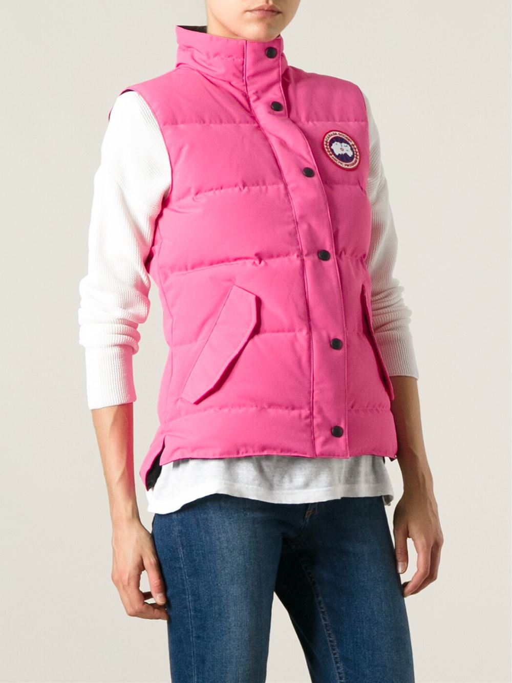 pink canada goose gilet