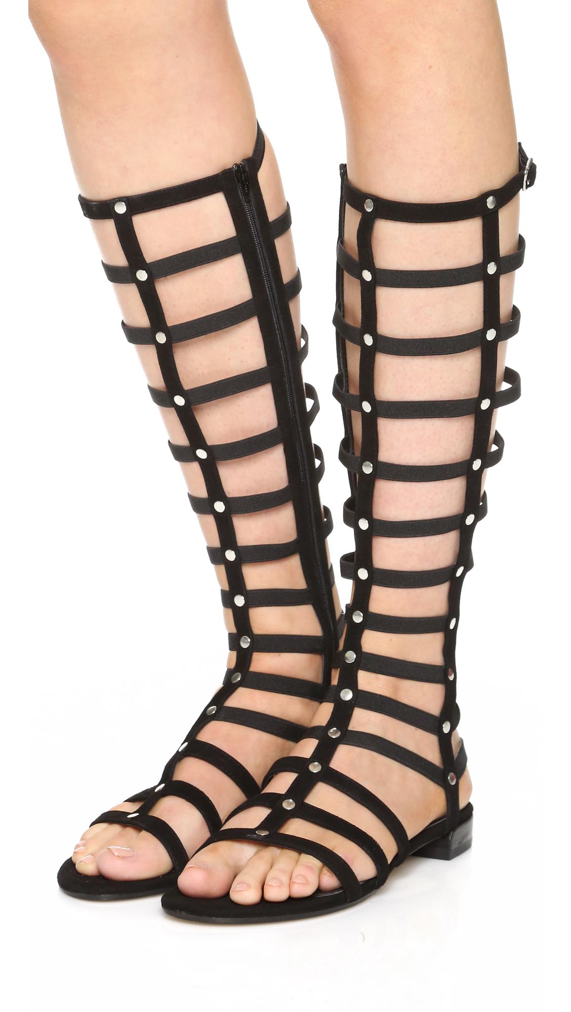 Lyst Stuart Weitzman Gladiator Sandals In Black