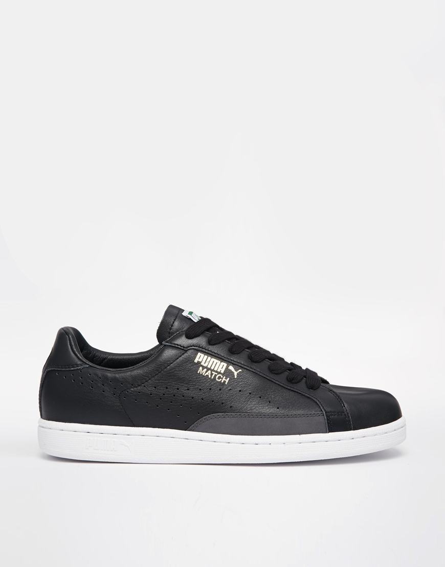 PUMA Match 74 Leather Sneakers in Black for Men - Lyst