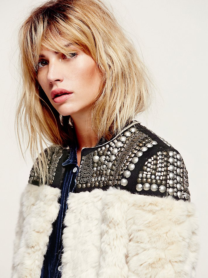 Lyst Free People Nordic Nights Jacket In White