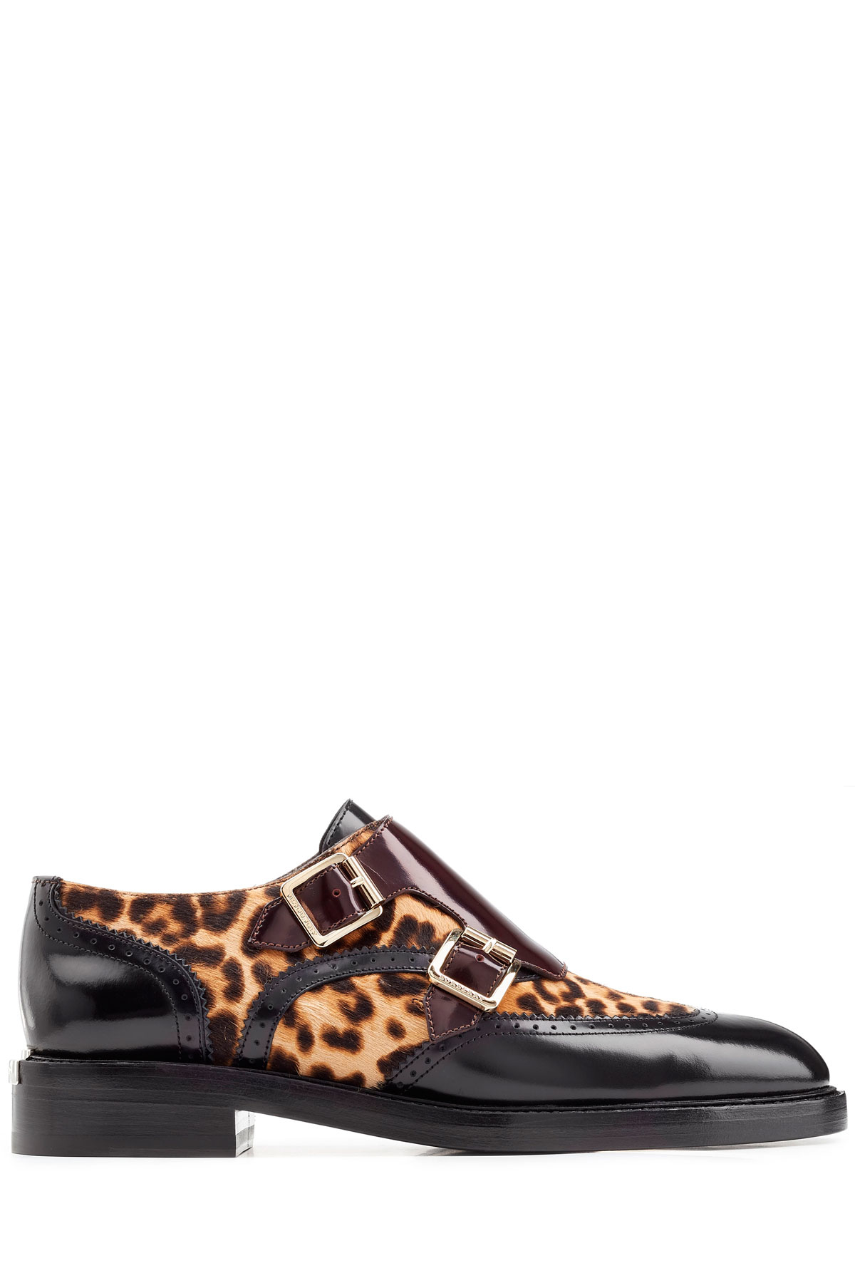 d093bfe70de Lyst - Burberry Leather Loafers With Leopard Printed Calf Hair ...
