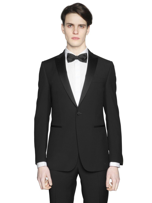 Lyst Z Zegna Super 120s Wool Tuxedo In Black For Men