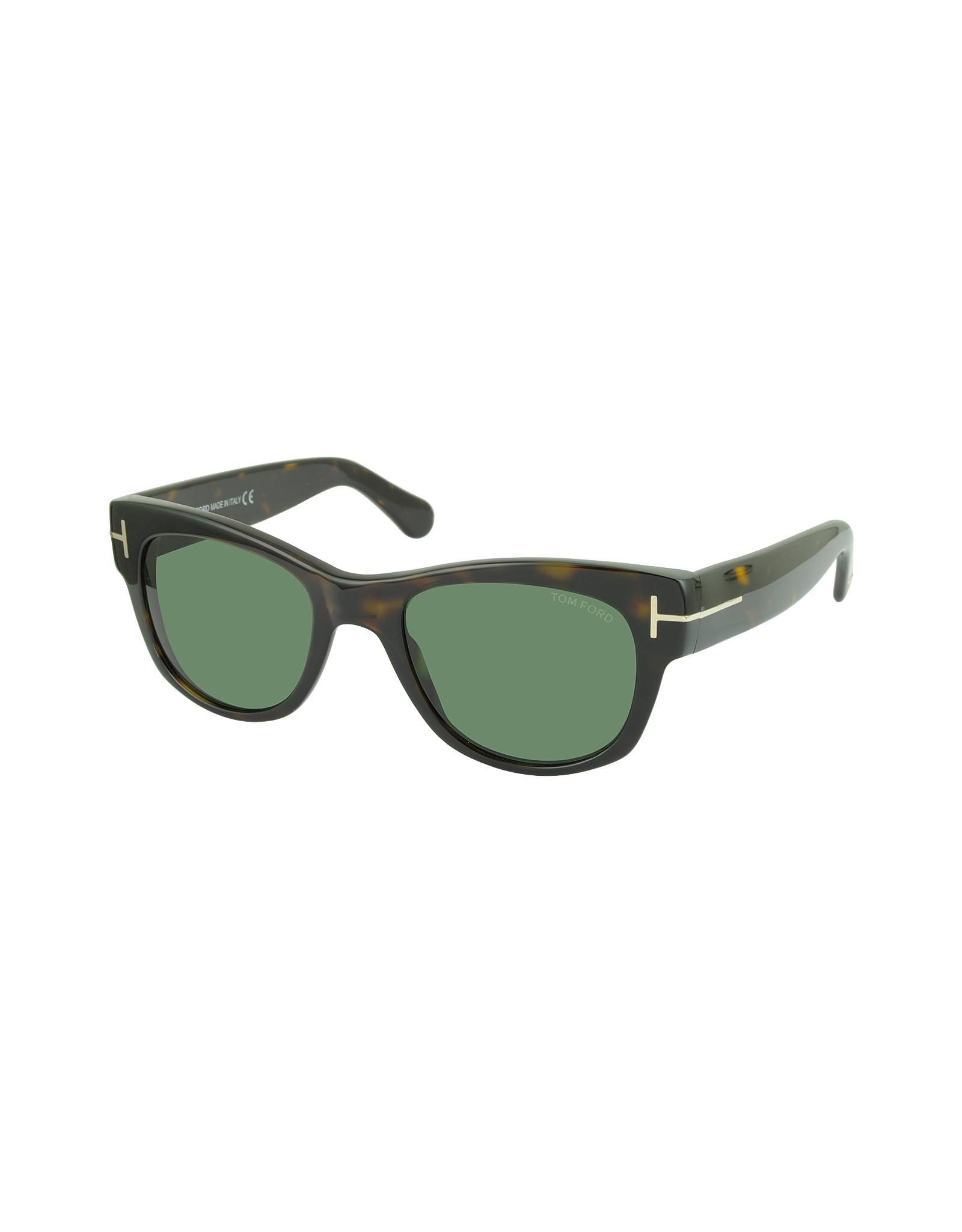 bcae8e072b5 Tom Ford Cary Ft0058 52n Havana Acetate Sunglasses in Green for Men ...