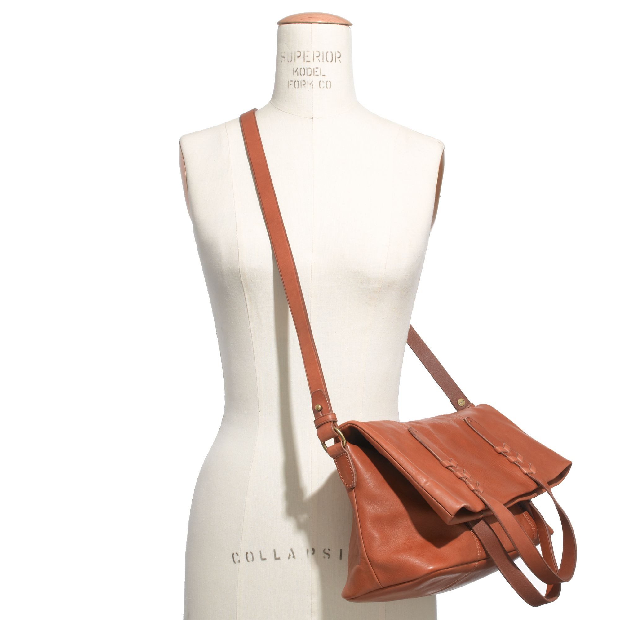 Madewell The Dylan Convertible Tote in Brown