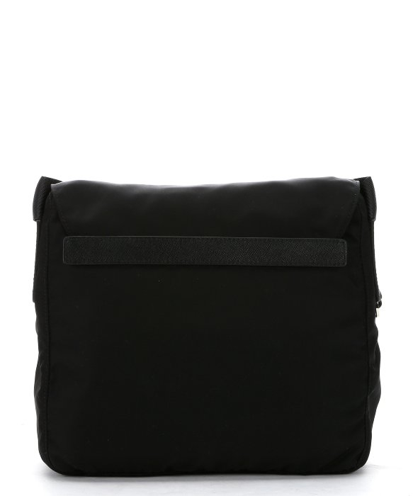 Nylon Messenger Bag Black 117