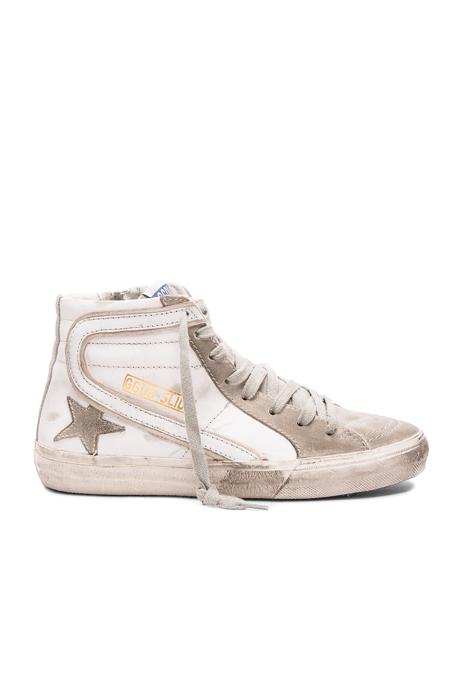 golden goose deluxe brand slide sneakers in white lyst. Black Bedroom Furniture Sets. Home Design Ideas