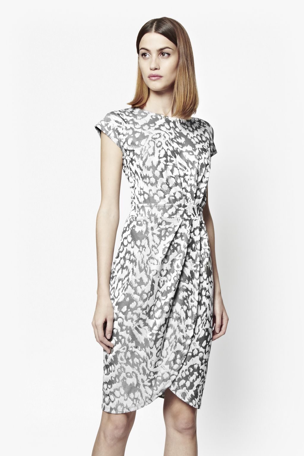 Cocktail dress gray in french