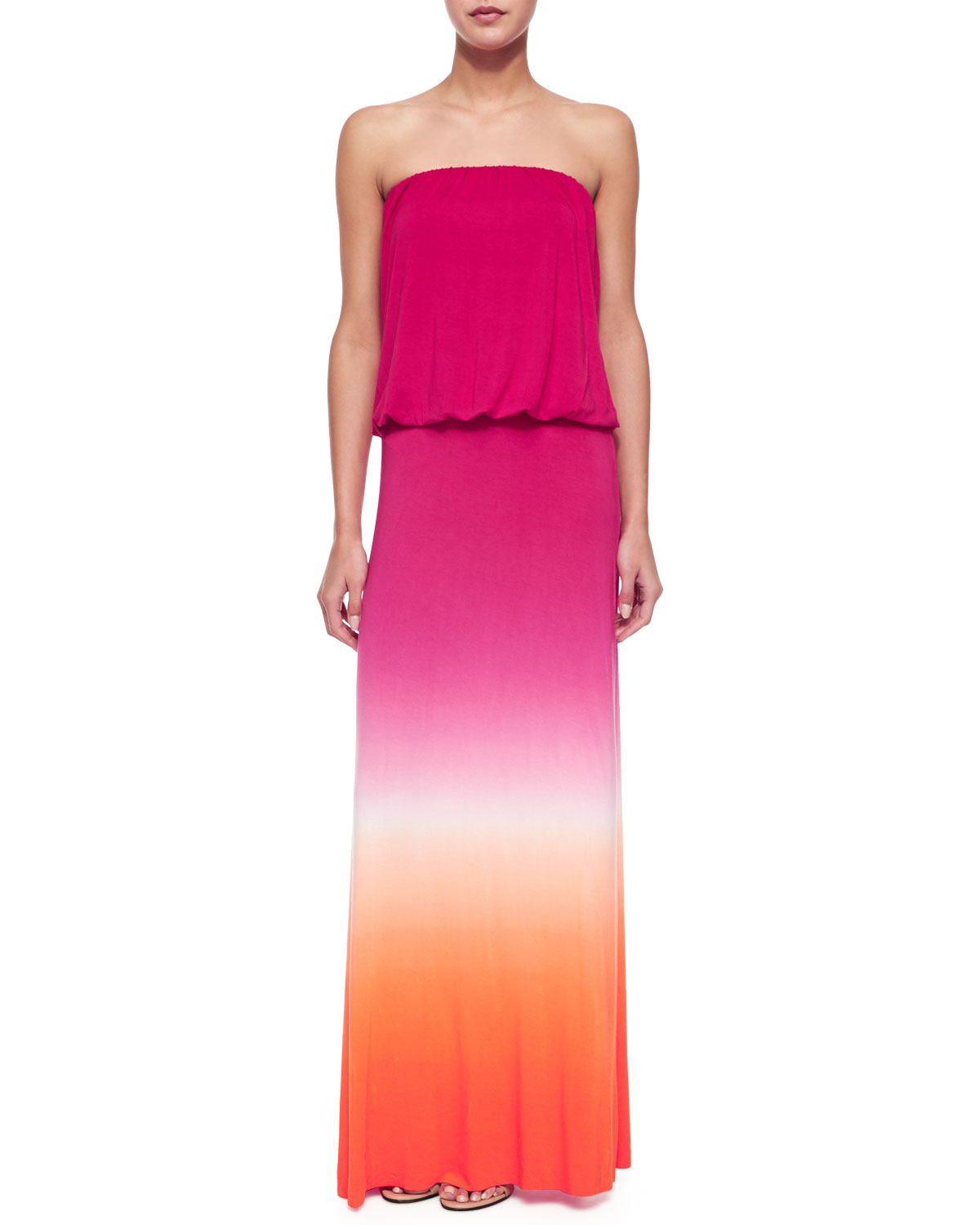 Young fabulous & broke Strapless Ombre Maxi Dress in ...